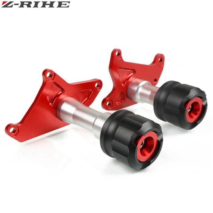 Protege Cadre,Protection chute pour moto honda msx CNC 125sf MSX125 125SF 13 125, nouveau cadre coulissant, en alliage - Type Rouge