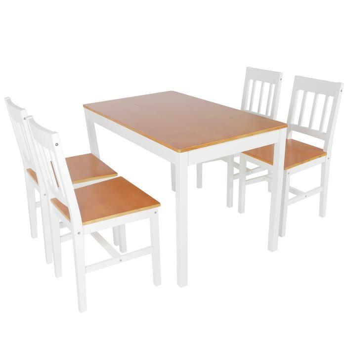Table à manger en bois, table à manger en bois de pin, cuisine antique pour salon maison appartement