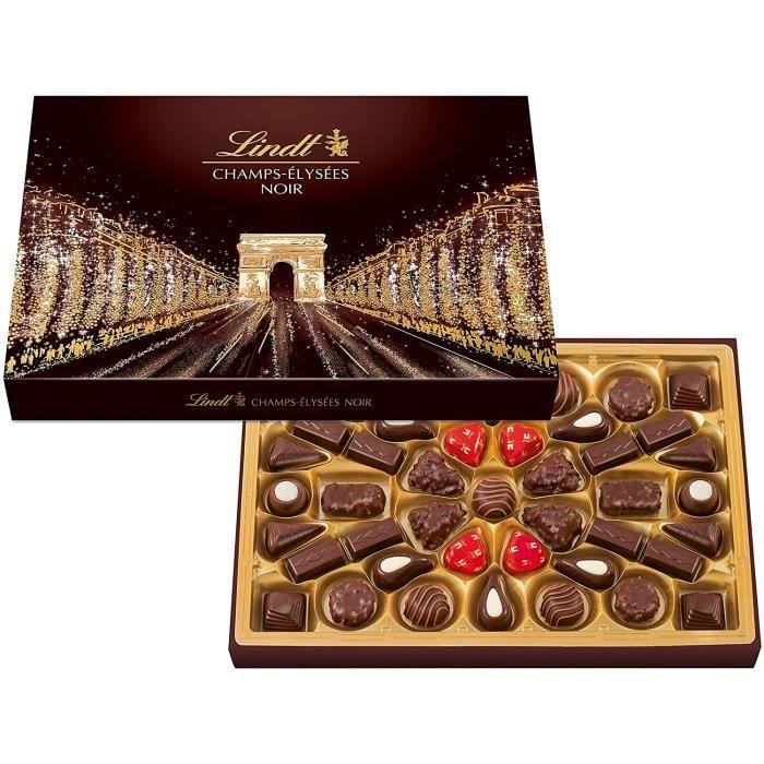 Lindt Champs-Élysées Boîte de Chocolats Noirs – 470 g