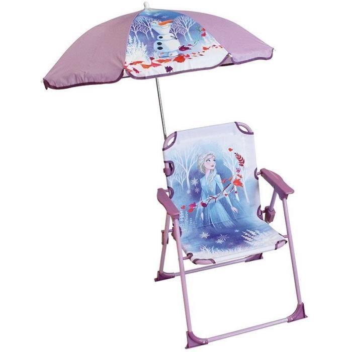 DISNEY REINE DES NEIGES Chaise pliante avec parasol pour enfant