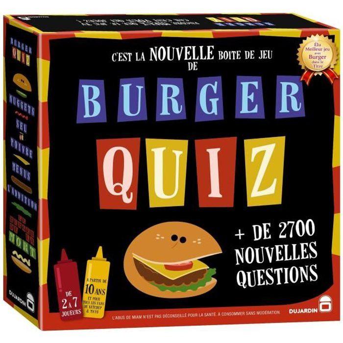 BURGER QUIZ - 01095 - La nouvelle version du célébrissime jeu TV Burger Quiz avec 2 700 nouvelles questions !