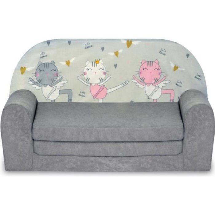 Canapé Lit Enfant Chatons