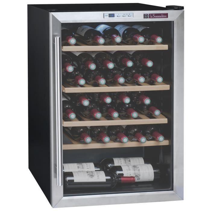La Sommeliere LS48B - Cave à vin de service - 48 bouteilles - Pose libre - Classe B - L 53,5 x H 83 cm