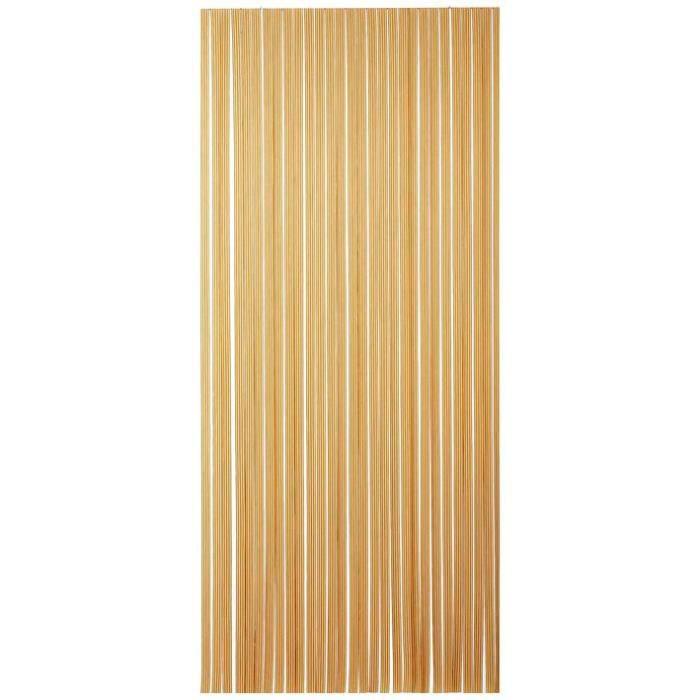 MOREL - Rideau portière PVC Tahiti brun et beige 120x220 cm