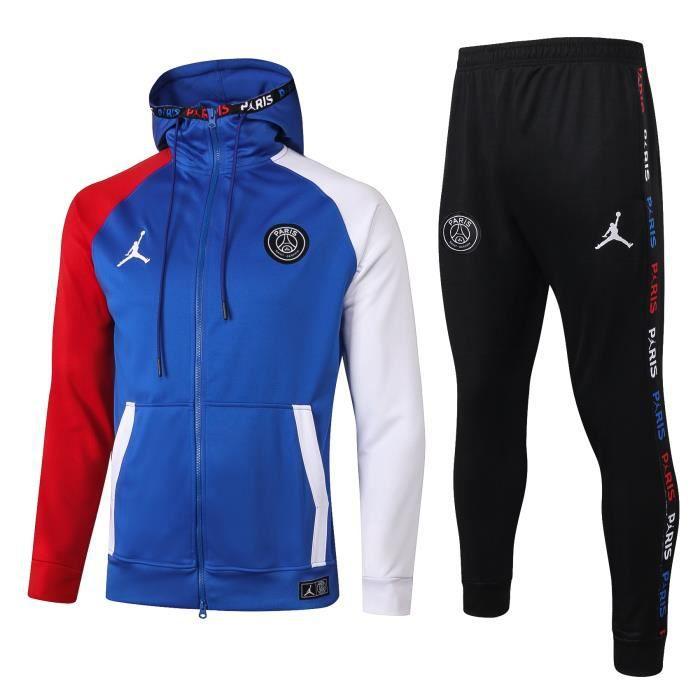Veste PSG Jordan Nouveau Paris Saint Germain Survêtement 2020 2021 Survet Pas Cher pour Homme