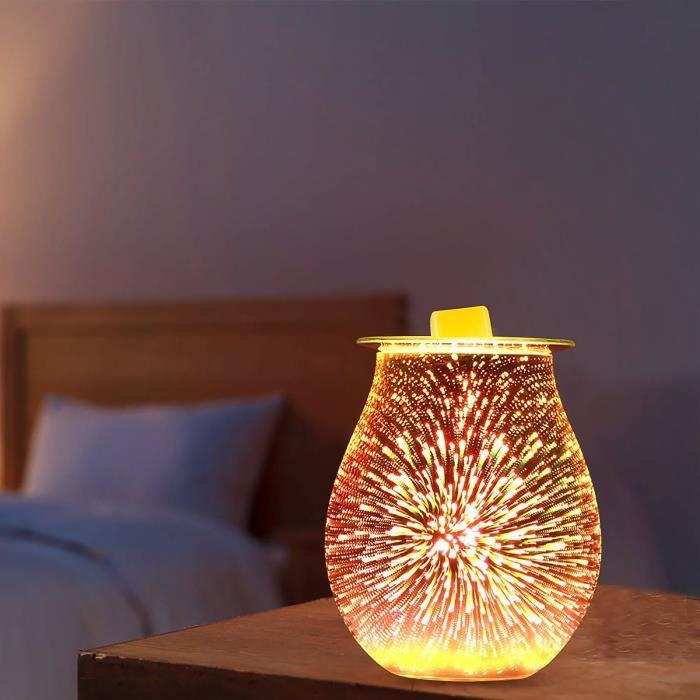 Diffuseur d'arôme en verre 3D Électrique Aromathérapie Lampe Diffuseur Cire