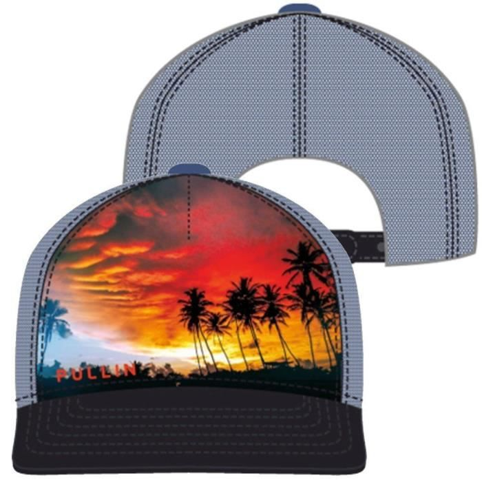 PULL IN Casquette Homme Microcoton SUNSET Marine