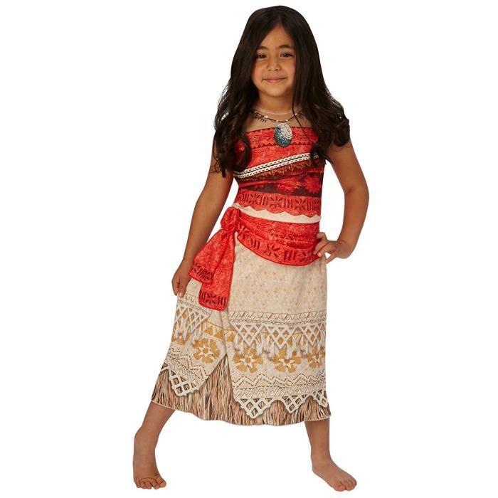 Moana - Princesse Disney - Costume Enfant Fantaisie - Petit - Age 7 - 8 Jeux et Jouets