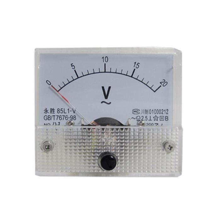 85L1-V AC 0-20V Analogique voltmetre metre de panneau de tension
