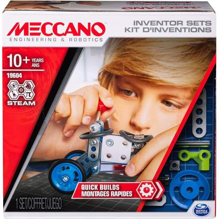 MECCANO Kit d'inventions – Set 1 Montages rapides