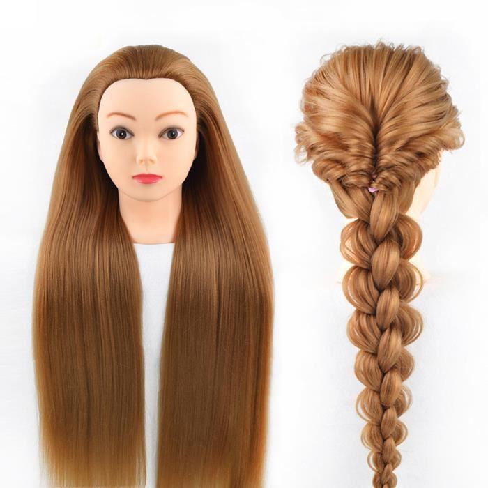Neverland 28'' Têtes d'exercice,Tête à Coiffer Coiffure,100% Fibre Synthétique Cheveux, Mannequin Poupée pour le Salon B5