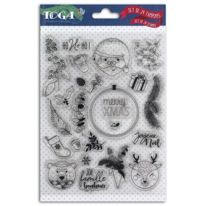 24 Tampons transparents 'Toga - Scottish Christmas'