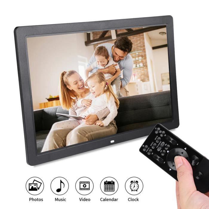 YOSOO cadre photo musique 17 pouces 1440 * 900HD cadre photo numérique réveil lecteur album télécommande noir ue