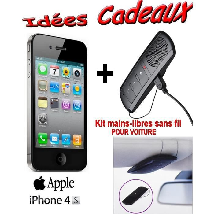 coffret apple apple iphone 4s noir 16go achat. Black Bedroom Furniture Sets. Home Design Ideas