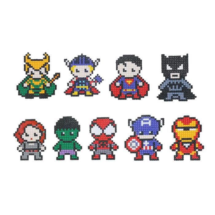 5d Diy Diamant Peinture Mignon Dessin Anime Super Heros Avengers Diamant Peinture Kits 9 Pcs Pour Enfants Et Debutants Adultes Achat Vente Objet Decoration Murale 5d Diy Diamant Peinture Mignon Cdiscount