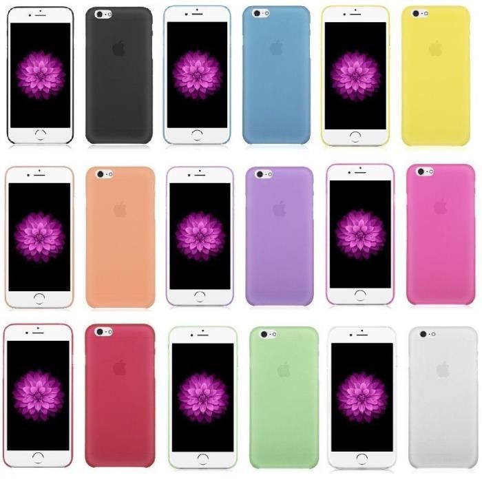 LOT 6 COQUES IPHONE 6 6S (4