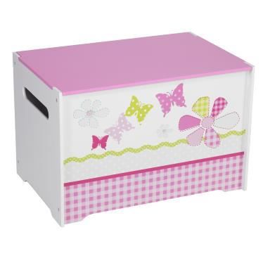 coffre jouets blanc et rose papillon achat vente coffre jouets 2009968967095 cdiscount. Black Bedroom Furniture Sets. Home Design Ideas