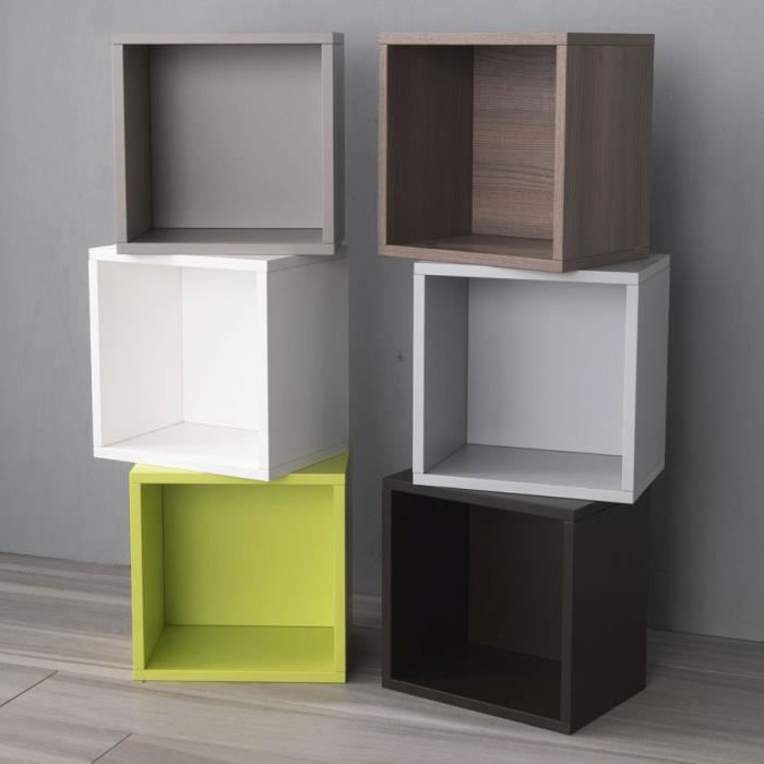 cube libera 0 71 q de pezzani couleur orme achat vente meuble tag re cube orne libera 0 71. Black Bedroom Furniture Sets. Home Design Ideas