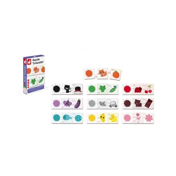 PUZZLE Jeu d association puzzle triocolor