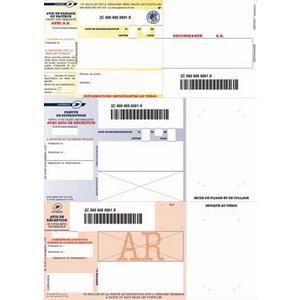 Papier à lettre Boîte de 1000 imprimés recommandés avec AR A4 IB1.