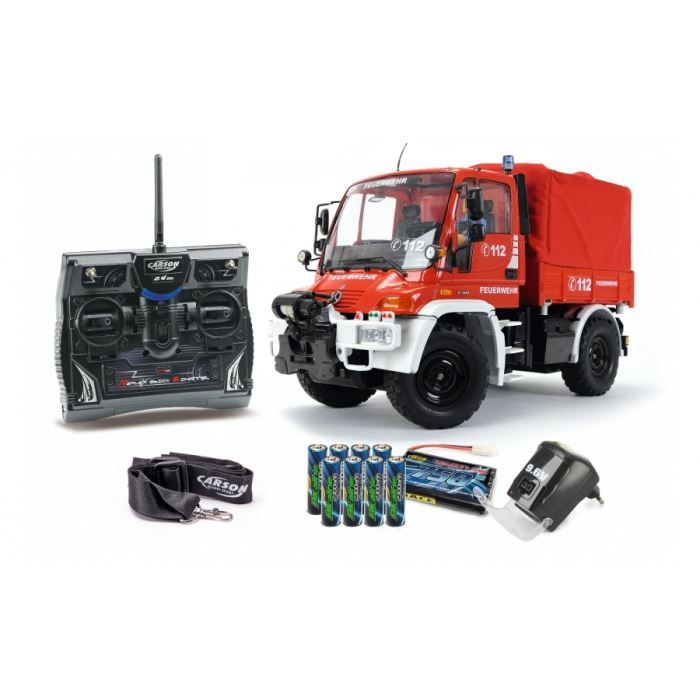 unimog u300 pompier rtr carson achat vente voiture camion cdiscount. Black Bedroom Furniture Sets. Home Design Ideas