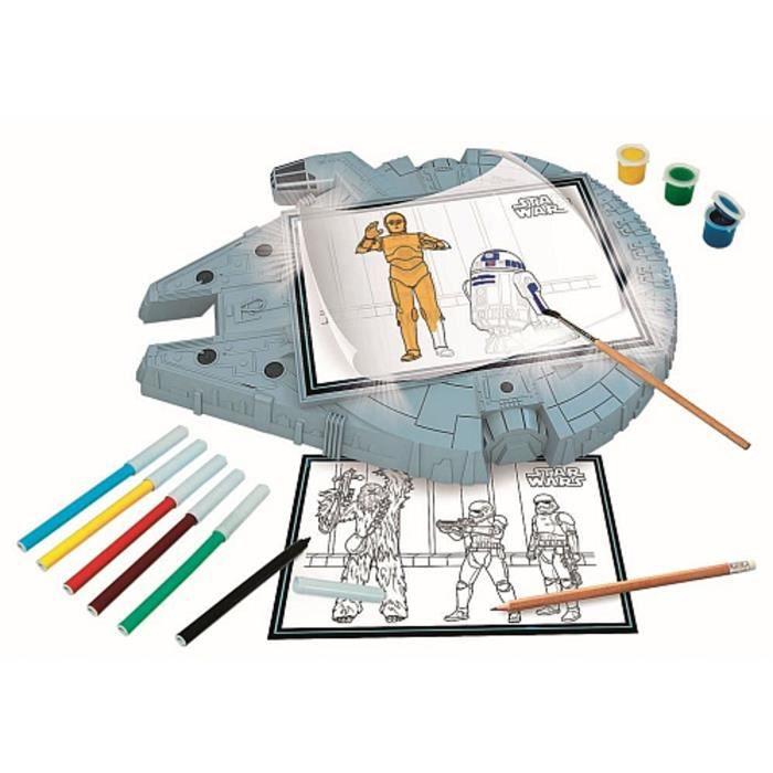 Star Wars Tablette à Dessins Falcon Millenium Clementoni
