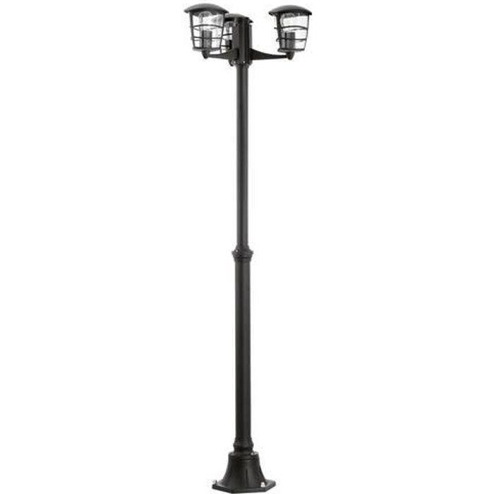 LAMPE DE JARDIN  ALORIA - Lampadaire d'extérieur 3 lumières Noir H1