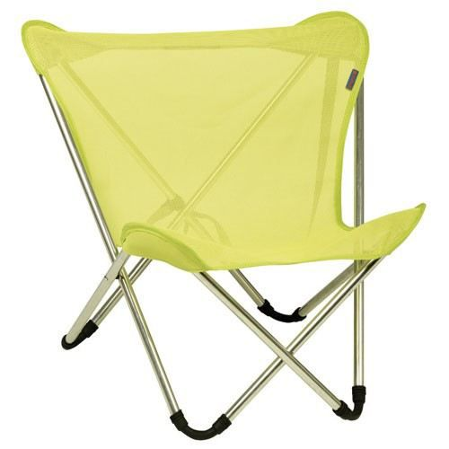 Fauteuil pliant pocket pop up lime achat vente for Chaise de camping lafuma