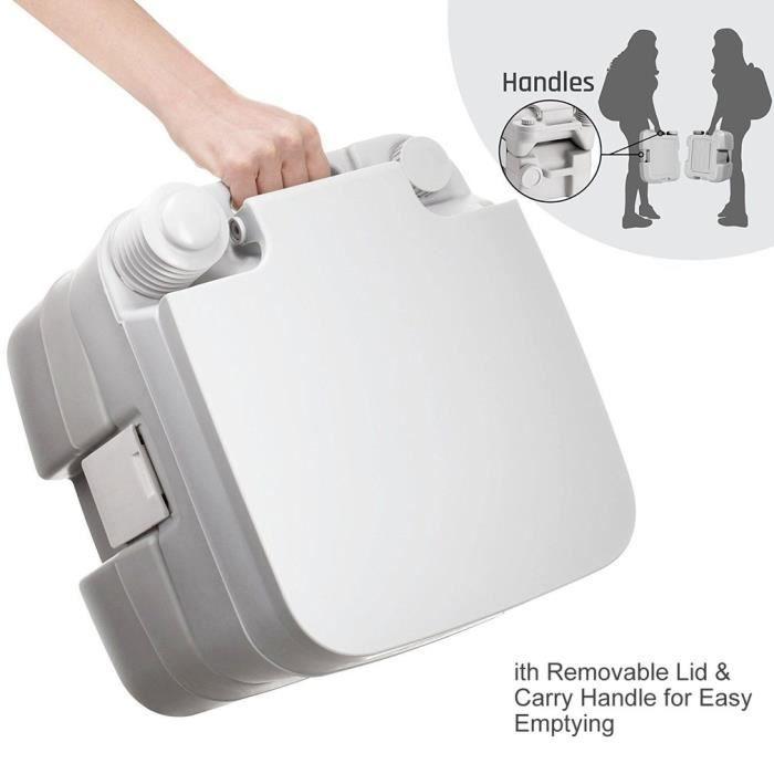 1 PCS Toilette Mobile Pliante durgence multifonctionnelle pour Les Voyages et Le Camping en Plein air Vbest life Toilette Pliante Portable en m/étal