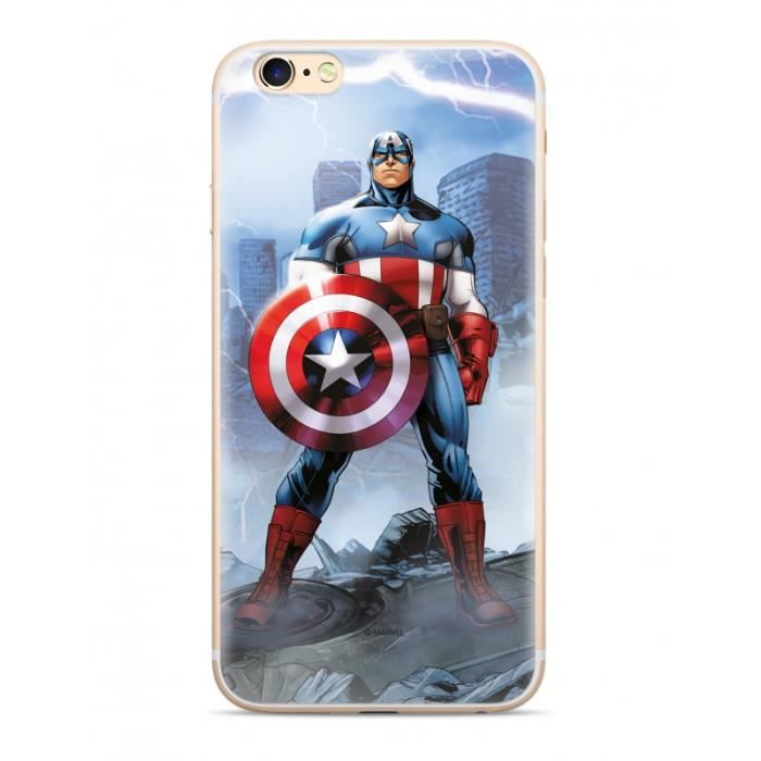 Coque iPhone 7/8 Marvel Capitain America - Bleu