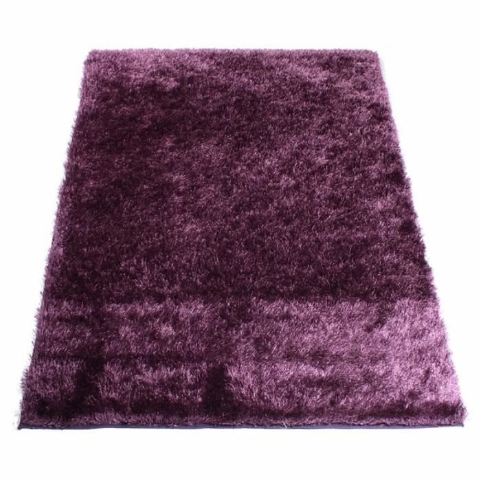 tapis shaggy aubergine 60 x 120 cm achat vente tapis soldes d s le 10 janvier cdiscount. Black Bedroom Furniture Sets. Home Design Ideas