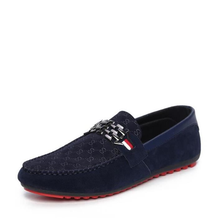 Chaussures homme Confortable Antidérapant Moccasin Marque De Luxe ... 8f30c00d51e6