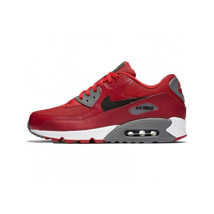 timeless design dbdaf 77004 NIKE Basket Homme Air Max 90 Essential 537384-606 - Cuir - Rouge