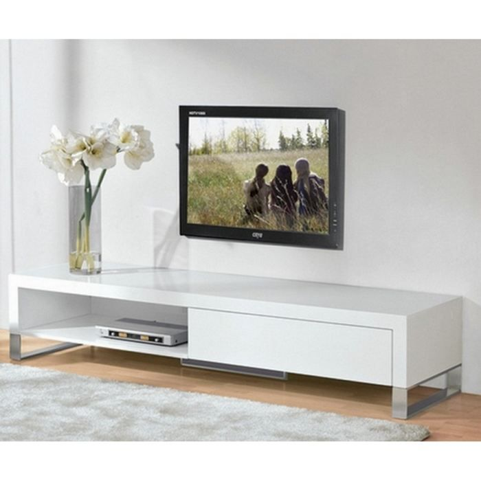 meuble tv laque blanc brillant. Black Bedroom Furniture Sets. Home Design Ideas