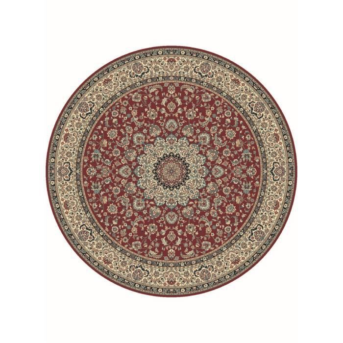 tapis de rond s kazbah rond 4 bordeaux 200x200 achat vente tapis cdiscount. Black Bedroom Furniture Sets. Home Design Ideas