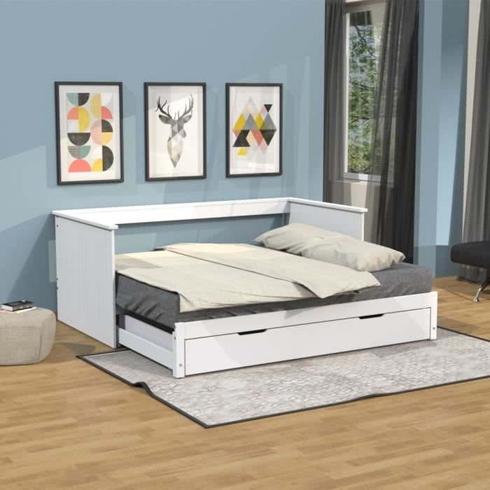 lit gigogne 2 places achat vente lit gigogne 2 places. Black Bedroom Furniture Sets. Home Design Ideas