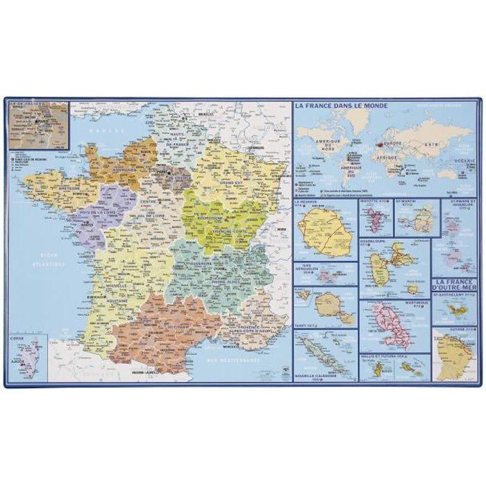 Planisph/ère Politique avec Drapeaux Poster 91x61 cm 1art1 Cartes Et 1x Poster De Collection 1art1/®