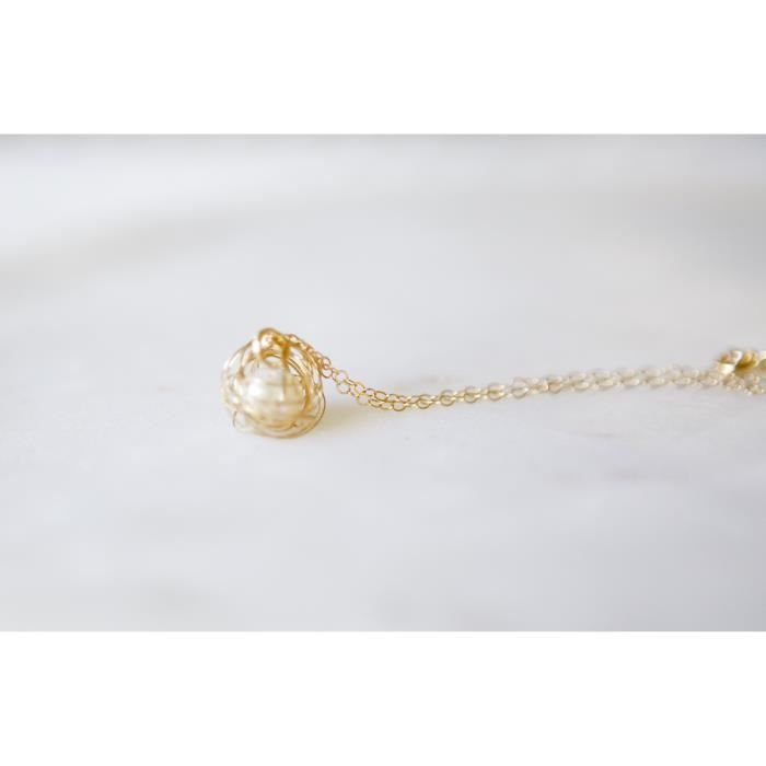 Womens Freshwater Cultured Pearl Gold Filled Necklace - 18 Necklace TO3Z2