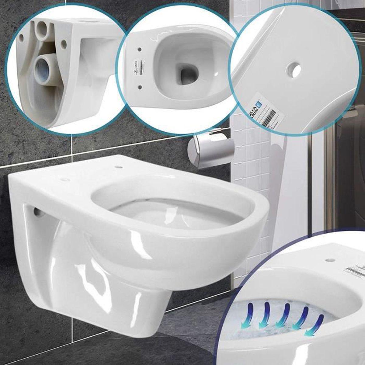 Monter Des Toilettes Suspendues toilette suspendue   37 x 35 x 49,5 cm, céramique, murale