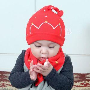 BAVOIR 2pcs set coton bébé garçon fille chapeau hibou cas