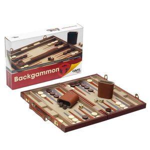 JEU SOCIÉTÉ - PLATEAU Jeu de société - Coffret bois backgammon- cayro