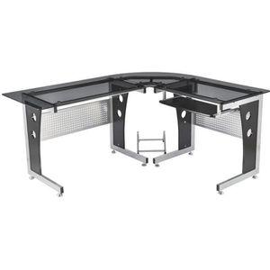 BUREAU  Bureau d'informatique angle pour ordinateur meuble
