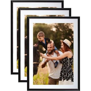 CADRE PHOTO Lot de 3 Cadres photos Noir A4 (21x29.7 cm) - Cadr