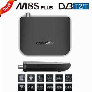 BOX MULTIMEDIA M8S Plus DVB - TV Box T2 / T Amlogic S905D Android