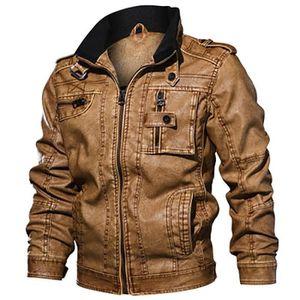 50 52 54 58 Veste Hommes Veste Blouson simili cuir coton