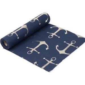 DELIBEST Rouleau de Tissu Organza pour Chemin de Table de Mariage Motif n/œuds Bleu Roi 26 m x 29 cm