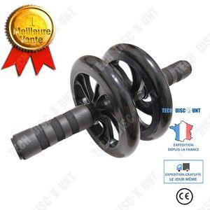 Kacsoo Lot de 5 rouleaux de roue AB pour abdominaux avec barre de pouss/ée et genouill/ère pour la maison la musculation lexercice la gym