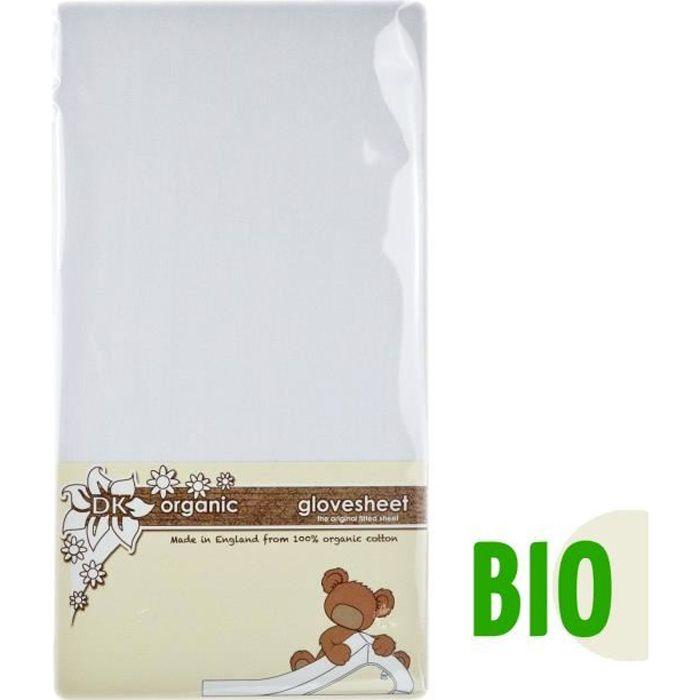 100% Coton BIO Drap-Housse Next2Me Spécialement Conçu Pour Le Matelas Chicco Next 2 Me Standard Dream Magic & Air - Blanc