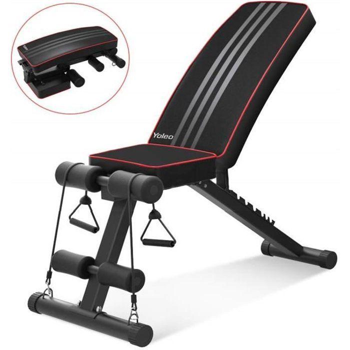 YOLEO Banc de Musculation Pliable Multifonction Sit-up Fitness Musculation Bras Gym Domicile Bureau ---Allemagne Stock