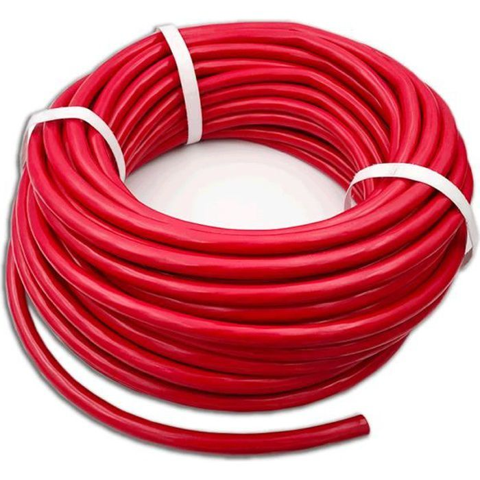 Cable De Démarrage 50mm2 Au Mètre Rouge